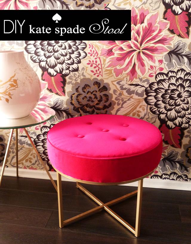 DIY, Kate Spade, stool