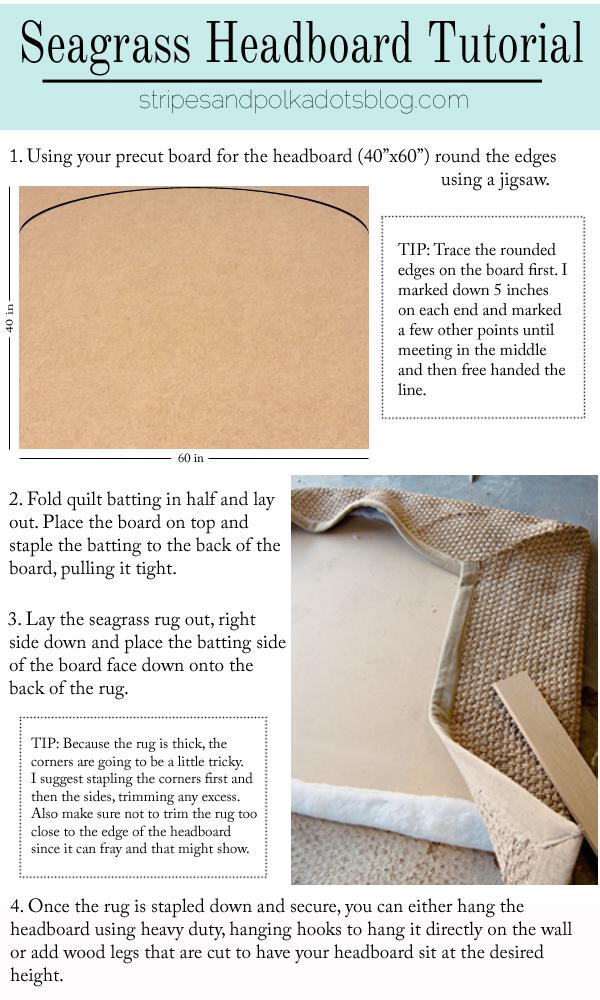 seagrass headboard tutorial - Seagrass Headboard