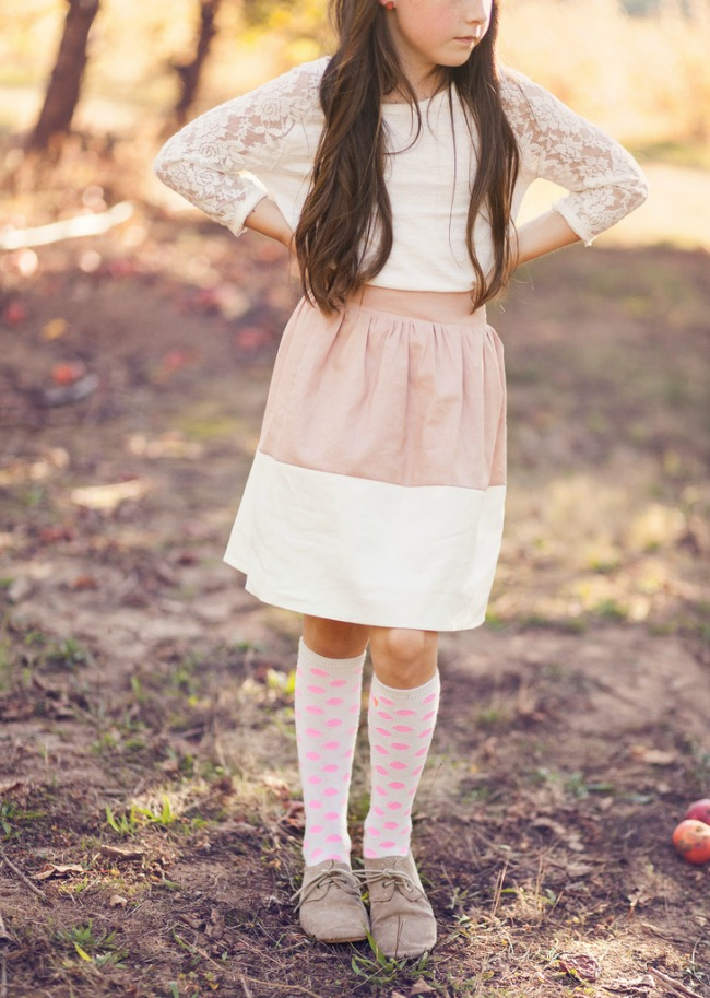Tea Party | Girls Colorblock Party Skirts | Preciously Paired