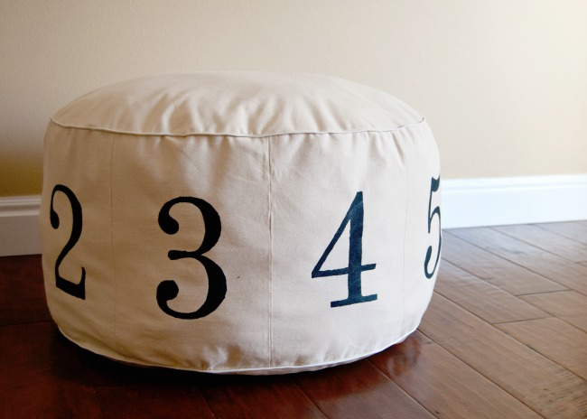 Numbers Pouf | Preciously Paired