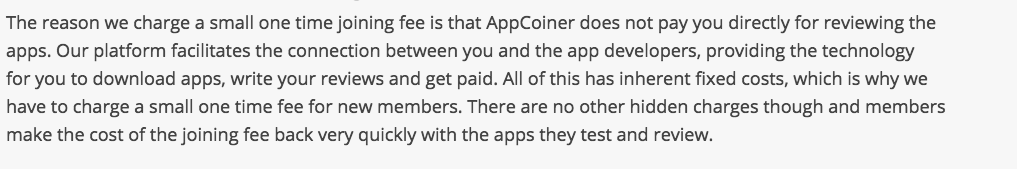 is appcoiner a scam why they charge