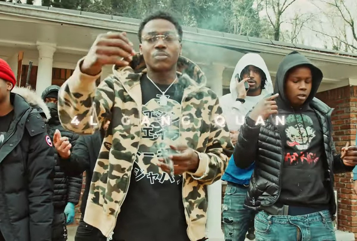 "2FeetBino Links With 4L Quan Out In East Point For "" In Da Spot"""