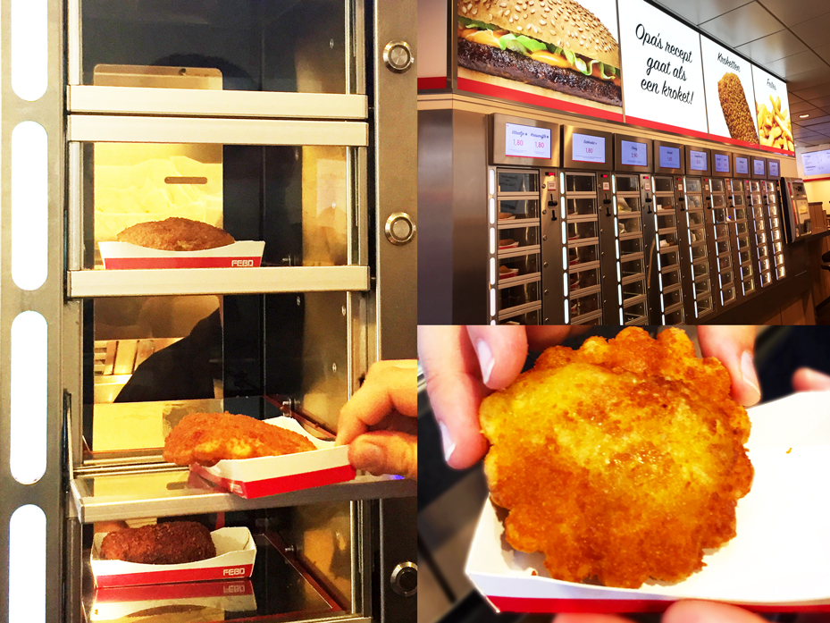FEBO at the automats in Amsterdam