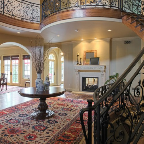 Elegant Curved Staircase