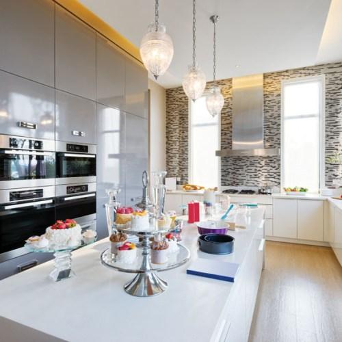 Decoration and furniture in modern kitchen