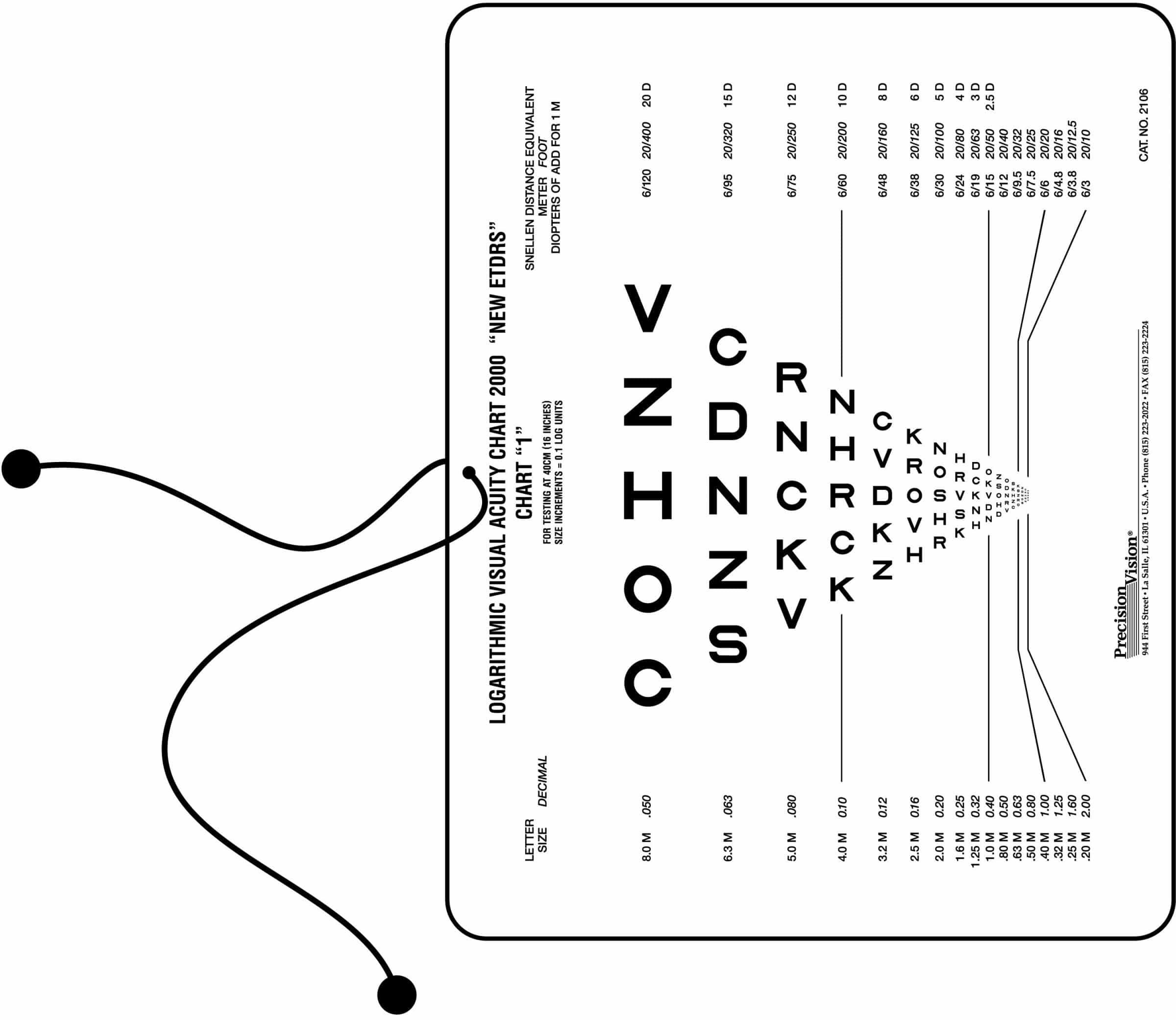 Landolt C Near Vision Chart
