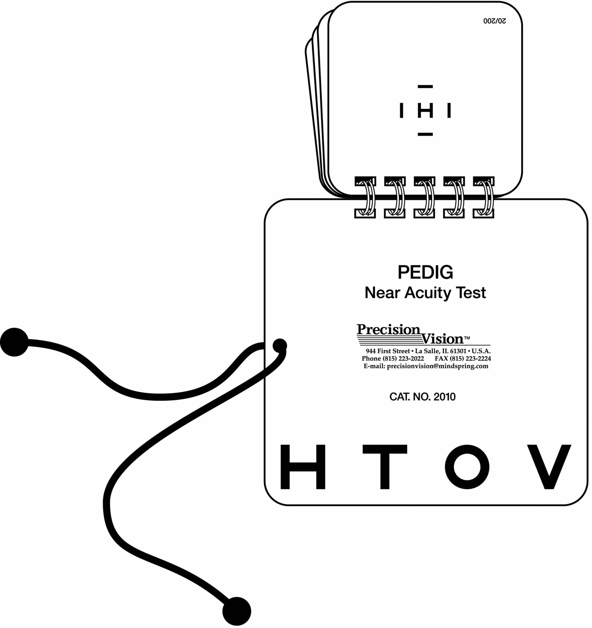 Hotv Single Symbol Eye Test Book With Interaction Bars