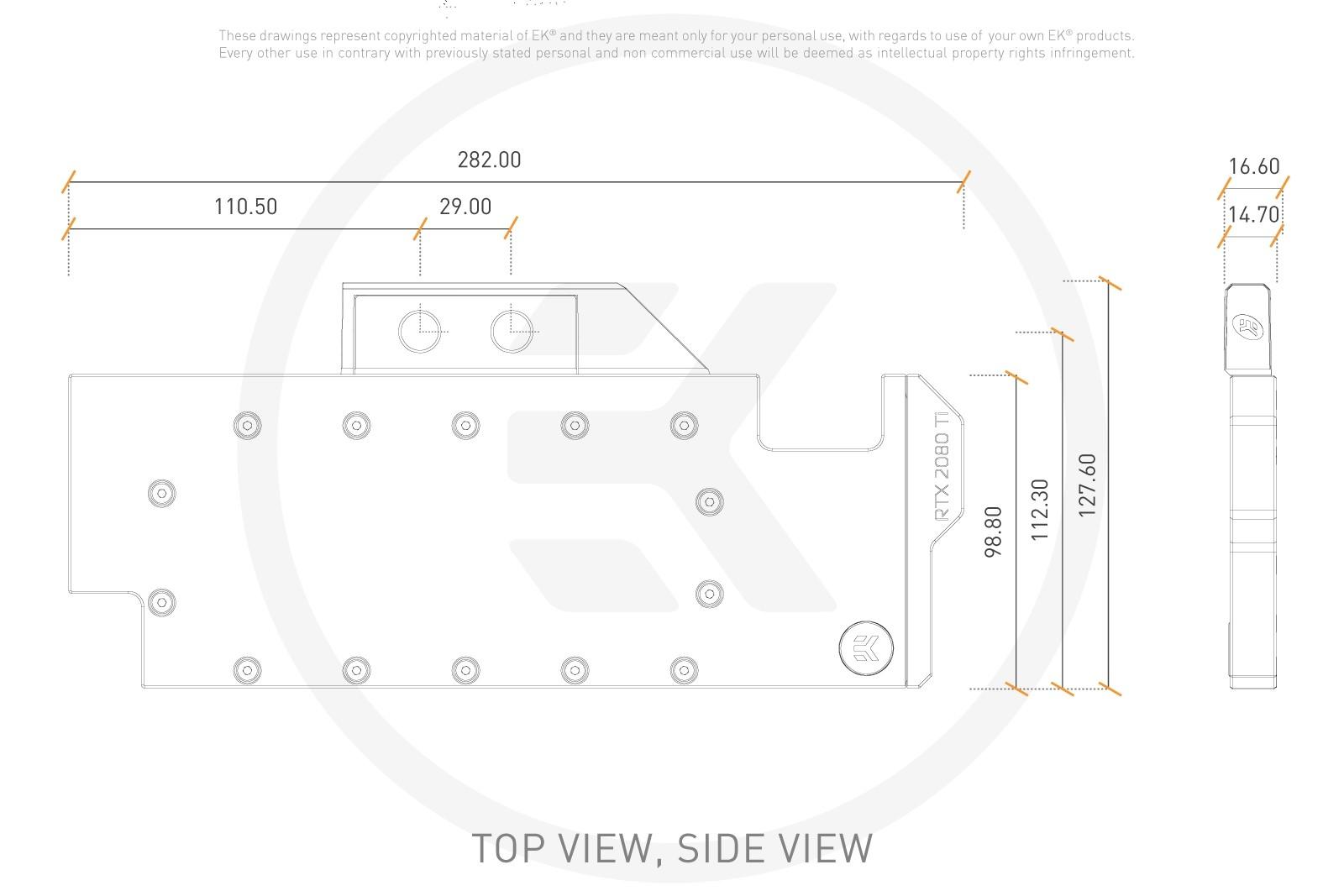 EK Vector RTX 2080 Ti - Copper + Plexi GPU Water Block