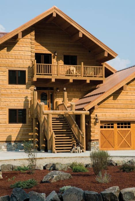 Montana Handcrafted Log Home By Precisioncraft
