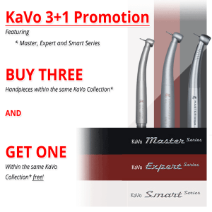 KaVo 3+1 Collection Promotion