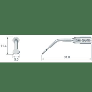 NSK VarioSurg Piezo Surgical Sinus Membrane Tip SG10