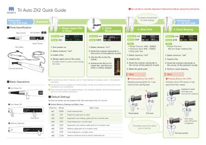 J Morita Cordless dental handpiece with Apex Locator quick guide