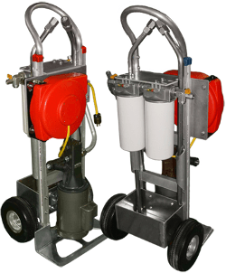PFP's SFC spin-on filter cart for hydraulic oil