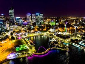 Perth Night Aerial Photography
