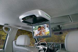Overhead Mobile Video Screen