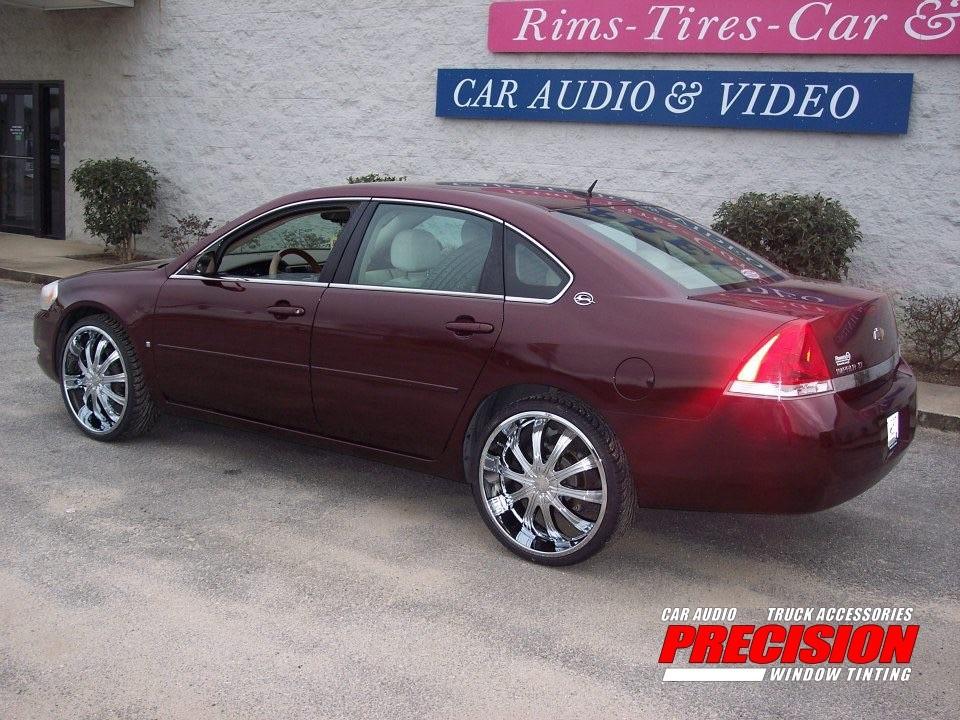 2007 impala 22 chrome wheels precision audio. Black Bedroom Furniture Sets. Home Design Ideas