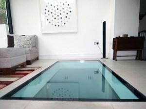 Walk-on glass floor
