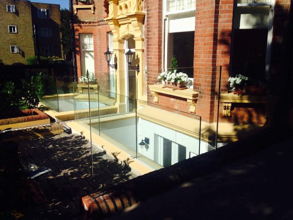 Frameless glass balustrades in Hove