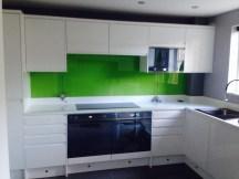 Bright Green Glass Splashbacks