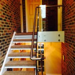 Balustrade with brushed stainless handrail