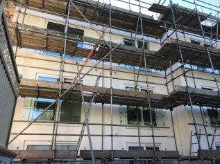 6 installed juliette balconies to the rear of a new build property in Hove