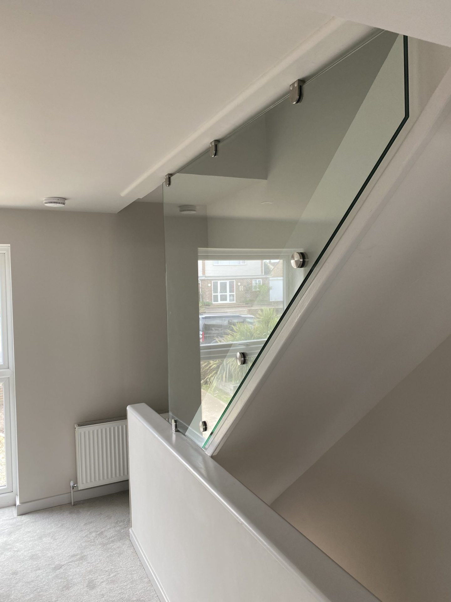 Side fixed balustrade infill panel
