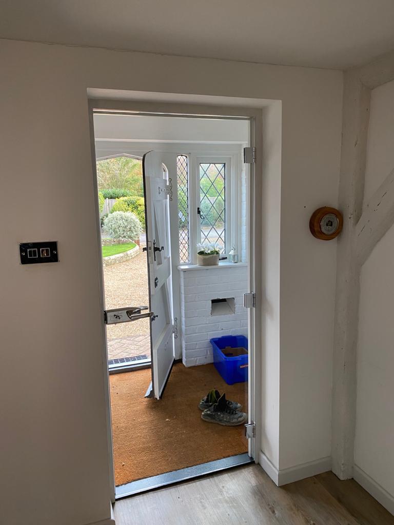Glass entrance door