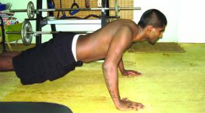 push-up w shrug
