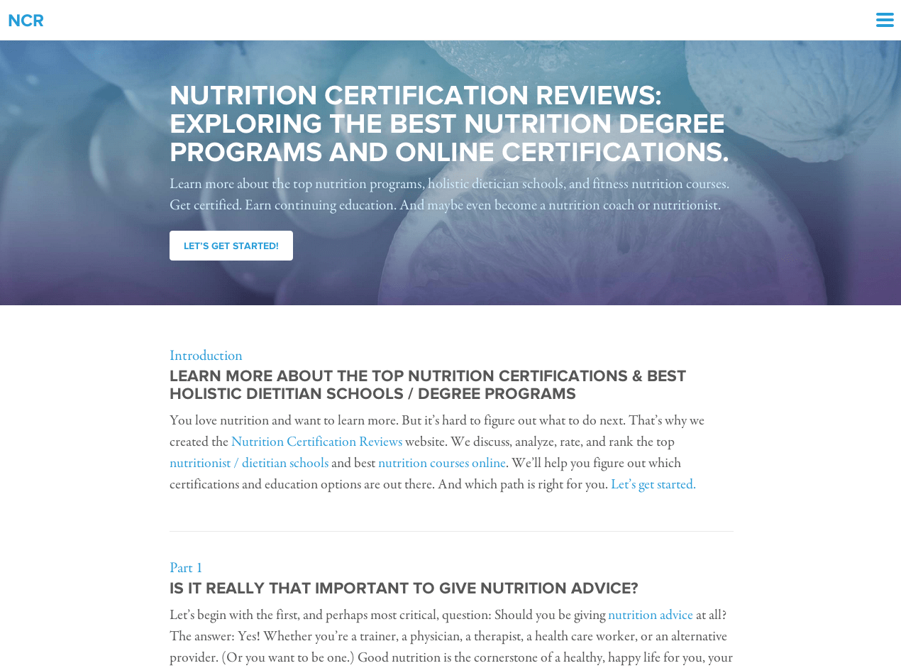 Nutrition Certification Reviews Exploring The Best