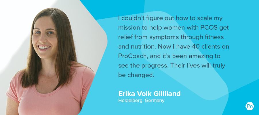 Erika Volk Gilliland - testimonial card