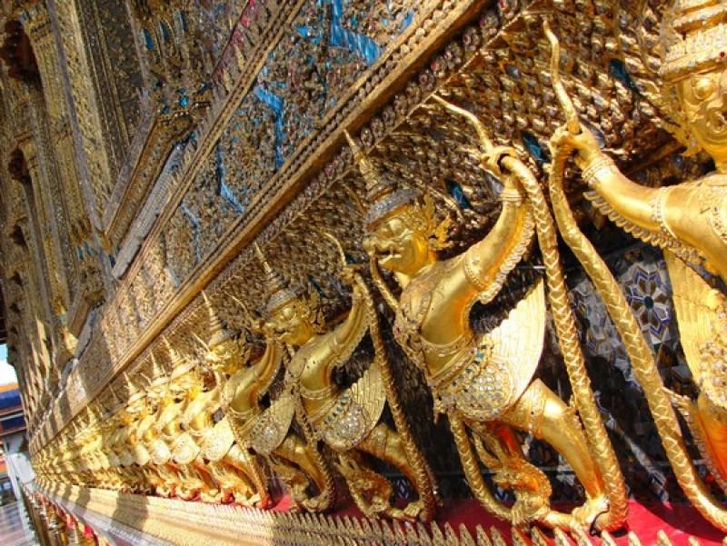 Bangkok - Detalhe do Grand Palace - Preciso Viajar