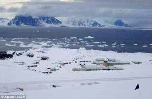 Work: Rouen was based at the Rothera Research Station, where he was a highly skilled lab manager credit: DailyMail.co.uk