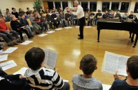 Students practice at the Regensburger Domspatzen in Regensburg, Germany, in a 2009 photo. (CNS/KNA-Bild)
