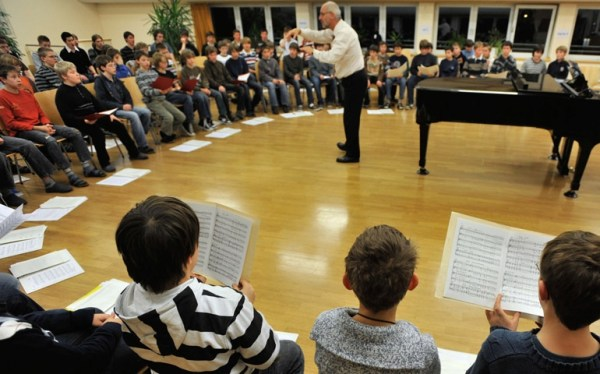 Students practice at the Regensburger Domspatzen in Regensburg, Germany, in a 2009 photo. (CNS/KNA-Bild)