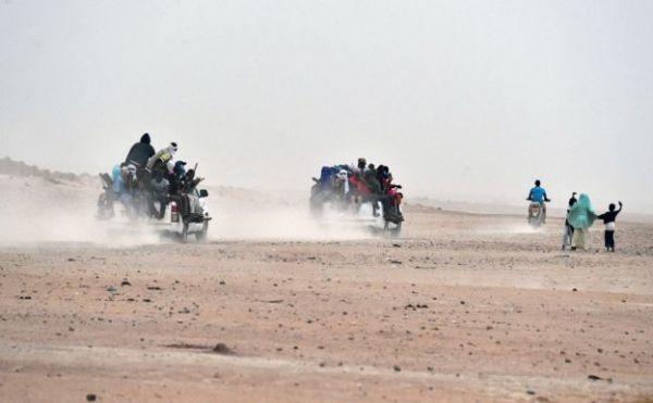 Like many migrants, trafficked women are often taken across the Sahara Desert