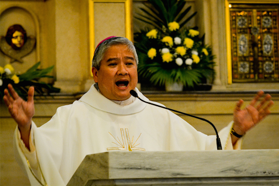 Archbishop Socrates Villegas, president of the Catholic Bishops Conference of the Philippines. (Photo by Roy Lagarde)