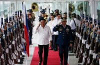 Mr Duterte made the speech before leaving the country for visits to Cambodia and Singapore