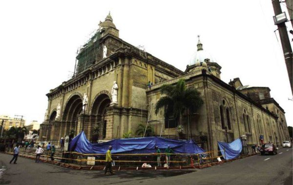 Manila Cathedral, the main Church of the Archdiocese of Manila (PHOTO BY RAFFY LERMA / INQUIRER)