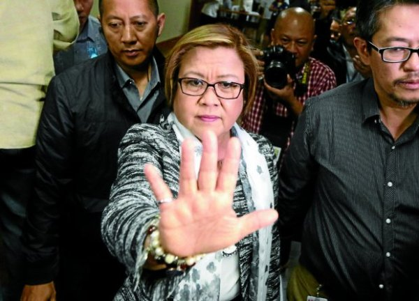 Senator Leila de Lima. INQUIRER FILE PHOTO/ MARIANNE BERMUDEZ