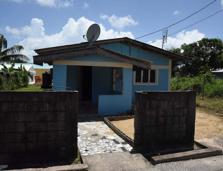 troubled home: The house in which the abused child lives in at Nicholas Street, Warrenville, Guaico.