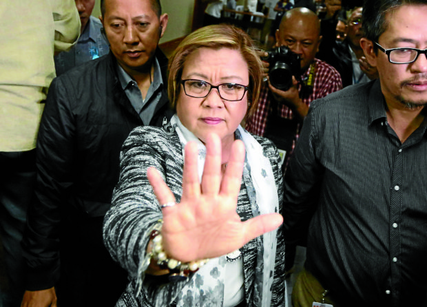 Sen. Leila de Lima. (File photo by MARIANNE BERMUDEZ / Philippine Daily Inquirer)
