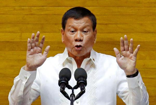 Critics of Philippine President Rodrigo Duterte say his accusations of drug-trade ties are merely means of quelling dissent. (AARON FAVILA/AP)