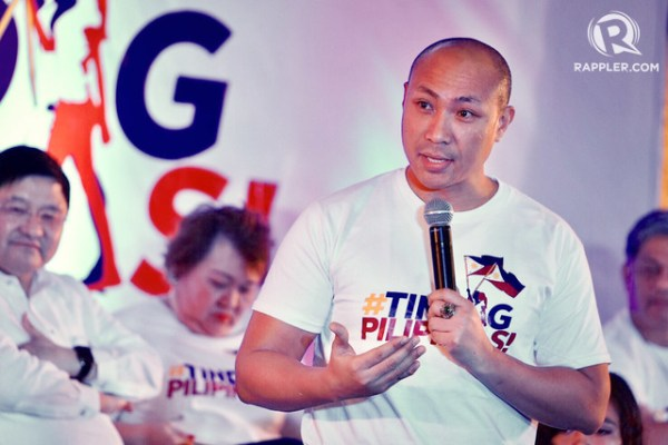 FOR COUNTRY. Magdalo Representative Gary Alejano speaks during the launch of #TindigPilipinas on September 18, 2017. Photo by LeAnne Jazul/Rappler