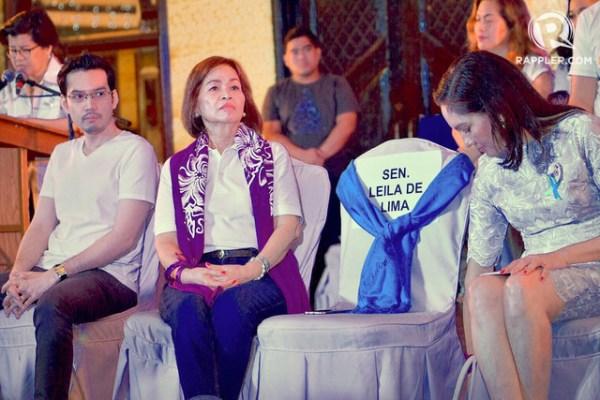 OPPOSITION. Convenors leave a seat empty for jailed Senator Leila de Lima, among Duterte's loudest critics. Photo by LeAnne Jazul/Rappler