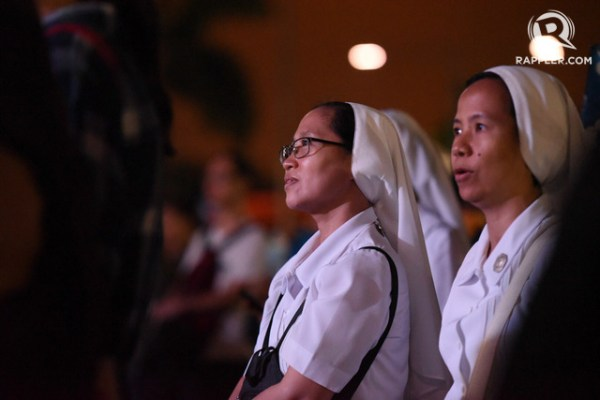 SHOUTS AND PRAYERS. Nuns join the Luneta protest. Photo by Martin San Diego/Rappler