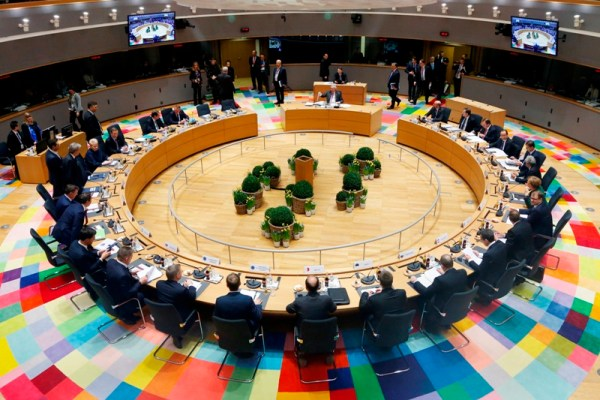 European Union heads of state and government gather for a round table meeting at an EU summit in Brussels on Friday, March 10, 2017. Francois Lenoir, Pool Photo via AP