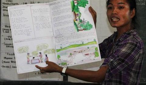 Michael Sumbian, Lumad teacher of Rural Missionaries of the Philippines-Northern MIndanao Region literacy and numeracy program.(Photo from RMP website)