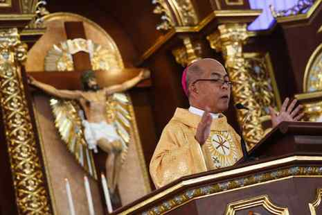 Archbishop Romulo Valles of Davao, incoming president of the Catholic Bishops' Conference of the Philippines. (ucanews.com file photo by Ruby Thursday More)