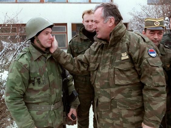When Bosnia's Serbs rose up, Mladic took over Belgrade's forces in Bosnia which swiftly overran 70 per cent of the country (PASCAL GUYOT/AFP/Getty Images)