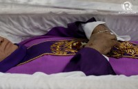 'HERO, MARTYR'. Catholic priest Marcelitio 'Tito' Paez was gunned down by unknown men on December 4, 2017, after facilitating the release of a political prisoner in Cabanatuan City, NUeva Ecija. Photo by Eloisa Lopez/Rappler